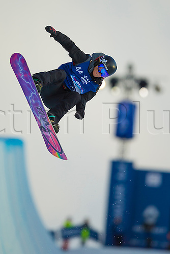 26.02.2016. Wyller Oslo Winter Park, Oslo, Norway. Red Bull X Games. Ladies Snowboard SuperPipe Final  Mirabelle Thovex of France competes in the Ladies Snowboard SuperPipe Final  during the X Games Oslo 2016 at the Wyller Oslo winter park in Oslo, Norway.