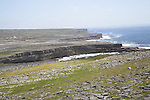 Coastal scenery viewed from Dún Aengus fort Inishmore, Aran Islands, County Clare, Ireland