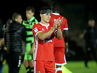 MK Dons George Williams applauds the away fans at the end of the match during Forest Green Rovers vs MK Dons, Caraboa Cup Football at The New Lawn on 8th August 2017
