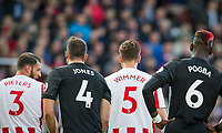 3,4,5,6 Shirts during the Premier League match between Stoke City and Manchester United at the Britannia Stadium, Stoke-on-Trent, England on 9 September 2017. Photo by Andy Rowland.