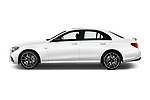 Car driver side profile view of a 2017 Mercedes Benz E Class AMG 43 4 Door Sedan