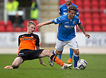 St Johnstone v Dundee United...09.05.15   SPFL<br /> Chris Erskine loses out to Chris Millar<br /> Picture by Graeme Hart.<br /> Copyright Perthshire Picture Agency<br /> Tel: 01738 623350  Mobile: 07990 594431