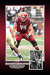 Memorabilia print for Washington State football seniors from the 2016 Cougar football season in which WSU went 8-5, including a berth in the Holiday Bowl.