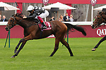 October 05, 2019, Paris (France) - Anapurna (7) with Lanfranco Dettori up wins the Qatar Prix de Royallieu (Gr I) on October 5 at ParisLongchamp Race Course. [Copyright (c) Sandra Scherning/Eclipse Sportswire)]