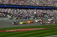 Dale Earnhardt leads at Daytona. (First 125 qualifying race)..NASCAR Winston Cup Daytona 500 18 Feb.2001 Daytona International Speedway, Daytona Beach,Florida,USA .copyright©F.Peirce Williams 2001 ..F. Peirce Williams .photography.P.O.Box 455 Eaton, OH 45320.p: 317.358.7326  e: fpwp@mac.com.