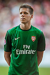 Wojciech Szczesny of Arsenal FC in action during the pre-season Asian Tour friendly match against Kitchee FC at the Hong Kong Stadium on July 29, 2012. Photo by Victor Fraile / The Power of Sport Images