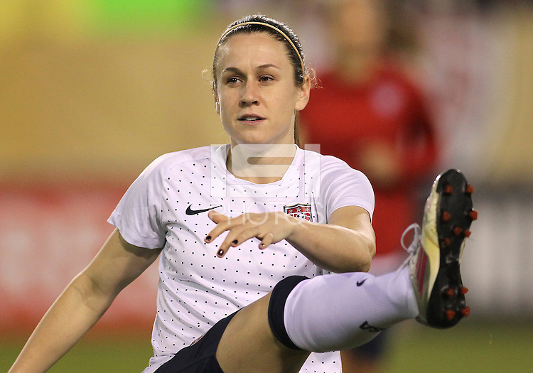 BOCA RATON, FL - DECEMBER 15, 2012: Heather Riley (9) of the USA WNT during an international friendly match against China at FAU Stadium, in Boca Raton, Florida, on Saturday, December 15, 2012. USA won 4-1.