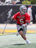 College Park, MD - April 22, 2018: Ohio State Buckeyes Jack Jasinski (5) in action during game between Ohio St. and Maryland at  Capital One Field at Maryland Stadium in College Park, MD.  (Photo by Elliott Brown/Media Images International)