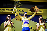 Race leader Julian Alaphilippe (FRA) Deceuninck-Quick Step retains the Yellow Jersey at the end of Stage 14 of the 2019 Tour de France running 117.5km from Tarbes to Tourmalet Bareges, France. 20th July 2019.<br /> Picture: ASO/Pauline Ballet | Cyclefile<br /> All photos usage must carry mandatory copyright credit (© Cyclefile | ASO/Pauline Ballet)