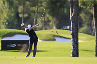 Justin Rose (ENG) plays his 2nd shot on the 16th hole during Sunday's Final Round of the 2018 Turkish Airlines Open hosted by Regnum Carya Golf &amp; Spa Resort, Antalya, Turkey. 4th November 2018.<br /> Picture: Eoin Clarke | Golffile<br /> <br /> <br /> All photos usage must carry mandatory copyright credit (&copy; Golffile | Eoin Clarke)