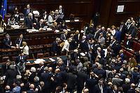 Roma, 29 Aprile 2013.Camera dei Deputati.Il Governo Letta chiede la fiducia alla Camera dei Deputati..Nella foto l'assemblea dopo il discorso di Enrico Letta