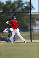 Jake Holland (31) of Montverde Academy in Clermont, Florida during the Under Armour Baseball Factory National Showcase, Florida, presented by Baseball Factory on June 12, 2018 the Joe DiMaggio Sports Complex in Clearwater, Florida.  (Nathan Ray/Four Seam Images)