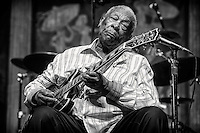 The one, the only, the great B.B. King - performing in the Blues Tent during the 2013 New Orleans Jazz & Heritage Music Festival on April 28, 2013 in New Orleans, Louisiana. USA.