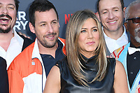 "10 June 2019 - Westwood, California - Adam Sandler, Jennifer Aniston. Netflix's ""Murder Mystery"" Los Angeles Premiere held at Regency Village Theater. Photo Credit: Birdie Thompson/AdMedia"