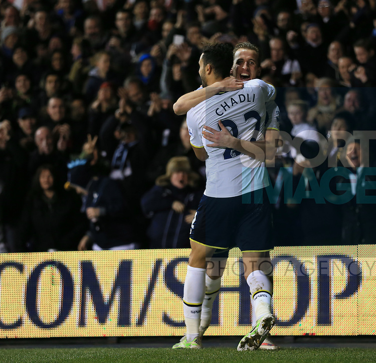 Tottenham's Harry Kane celebrates scoring his sides fourth goal<br /> <br /> Barclays Premier League - Tottenham Hotspur vs Chelsea - White Hart Lane  - England - 1st January 2015 - Picture David Klein/Sportimage