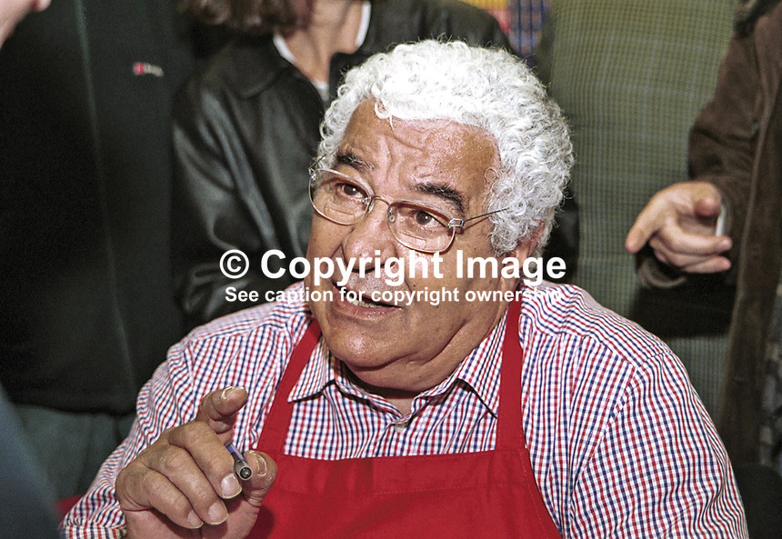 Antonio Carluccio, British TV chef and author. Taken at or during Hay Festival. Ref: 200005265.<br />