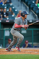 Lehigh Valley IronPigs shortstop J.P. Crawford (3) at bat during a game against the Buffalo Bisons on August 29, 2016 at Coca-Cola Field in Buffalo, New York.  Buffalo defeated Lehigh Valley 3-2.  (Mike Janes/Four Seam Images)