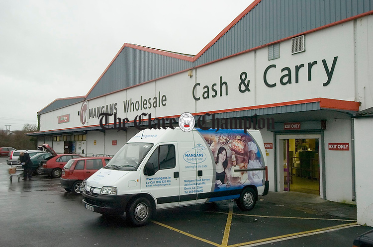A view of Mangans Wholesale, Ennis, who are celebrating 75 years in business. Photograph by John Kelly.