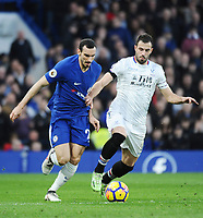 Davide Zappacosta of Chelsea and Luka Milivojević of Palace<br /> Londra 10-03-2018 Premier League <br /> Chelsea - Crystal Palace<br /> Foto PHC Images / Panoramic / Insidefoto <br /> ITALY ONLY
