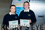 Pictured at the Kerry Education and Training Board student awards, at the Institute of Technology, Tralee on Friday night last  were l-r: Natalie O'Connor (Coláiste na Sceilge) and Síofra O'Shea (Coláiste na Sceilge).