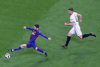 Sevilla FC's Clement Lenglet (r) and FC Barcelona's Leo Messi during Spanish King's Cup Final match. April 21,2018. (ALTERPHOTOS/Acero)
