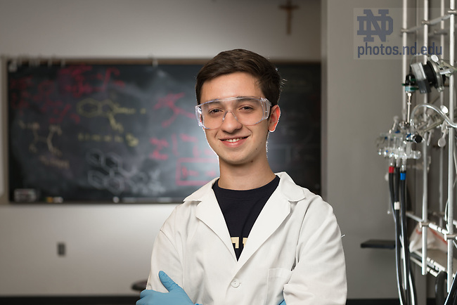 March 9, 2017; Pedro Navarro '20, international student from Brazil. (Photo by Matt Cashore/University of Notre Dame)