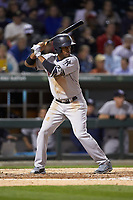 Rashad Crawford (22) of the Scranton/Wilkes-Barre RailRiders at bat against the Charlotte Knights at BB&T BallPark on April 12, 2018 in Charlotte, North Carolina.  The RailRiders defeated the Knights 11-1.  (Brian Westerholt/Four Seam Images)