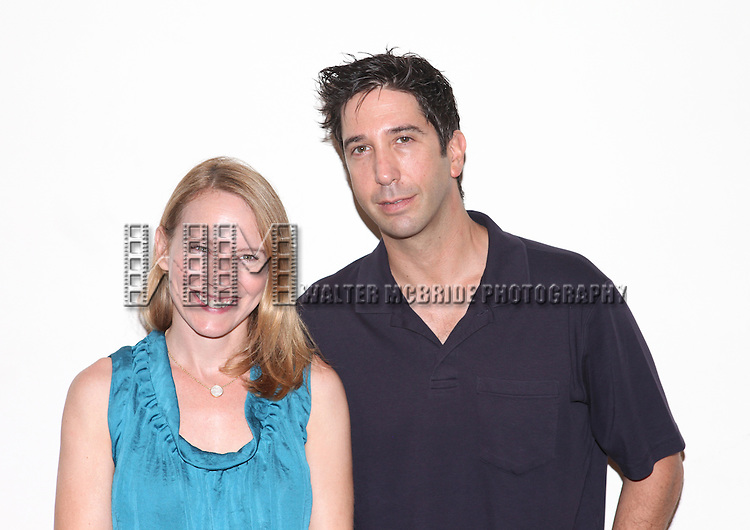 Amy Ryan & David Schwimmer.attending the first day of rehearsals for the Playwrights Horizon Production of 'Detroit' at their rehearsal studios in New York on 7/27/12