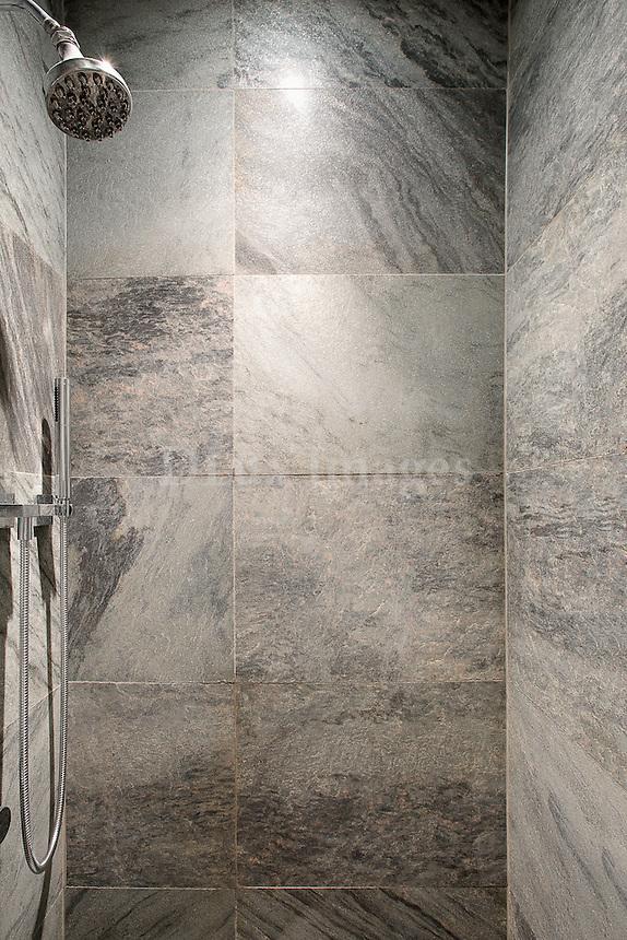 Modern gray shower room