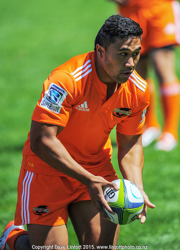 Vince Aso in action during the Hurricanes Super rugby training at Rugby League Park, Wellington, New Zealand on Thursday, 8 January 2015. Photo: Dave Lintott / lintottphoto.co.nz