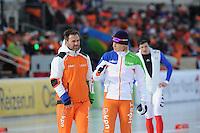 SCHAATSEN: BOEDAPEST: Essent ISU European Championships, 08-01-2012, 1500m Men, coach Jan van Veen, Koen Verweij NED, ©foto Martin de Jong