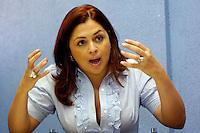 Tania Baez y Milagros German, presentadoras de television..Lugar:Santo Domingo, RD.Foto:Cesar de la Cruz.Fecha:.