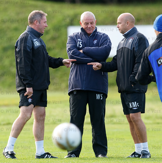 Ally McCoist and Kenny McDowall with Walter Smith