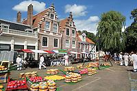 Nederland Edam 2015 07 22 .  Kaasmarkt in Edam