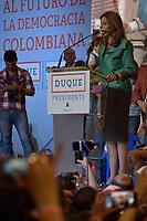 BOGOTA - COLOMBIA, 17-06-2018:Discurso de agradecimiento de Marta Lucía Ramirez a sus seguidores. La segunda vuelta de las elecciones presidenciales de Colombia de 2018 se celebrarán el domingo 17 de junio de 2018. El candidato ganador gobernará por un periodo máximo de 4 años fijado entre el 7 de agosto de 2018 y el 7 de agosto de 2022. /Thanks speech of Marta Lucia Ramirez to his followers . Colombia's 2018 second round presidential election will be held on Sunday, June 17, 2018. The winning candidate will govern for a maximum period of 4 years fixed between August 7, 2018 and August 7, 2022. Photo: VizzorImage / Nicolas Aleman / Cont