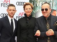 HOLLYWOOD, CA - NOVEMBER 12: Jamie Bell, Annette Bening and Elvis Costello at the Film Stars Won't Die In Liverpool Special Screening at the TCL Chinese Theatre in Hollywood, California on November 12, 2017. Credit: Faye Sadou/MediaPunch /NortePhoto.com