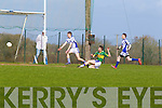 Kyle Fitzgibbon scores Tralee CBS first goal against St Flannan's of  Clare in the Frewen Cup Final  held last Wednesday in Croagh, Co. Limerick.