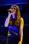 "MIAMI, FL - SEPTEMBER 28: Banks performs as the opening act for Abel Tesfaye, known by his stage name The Weeknd during ""The Fall"" 2013 concert Tour at James L Knight Center on September 28, 2013 in Miami, Florida. (Photo by Johnny Louis/jlnphotography.com)"