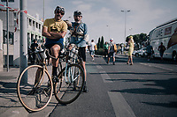 proper 'old school' riders at the stage finish<br /> <br /> 104th Tour de France 2017<br /> Stage 19 - Embrun &rsaquo; Salon-de-Provence (220km)