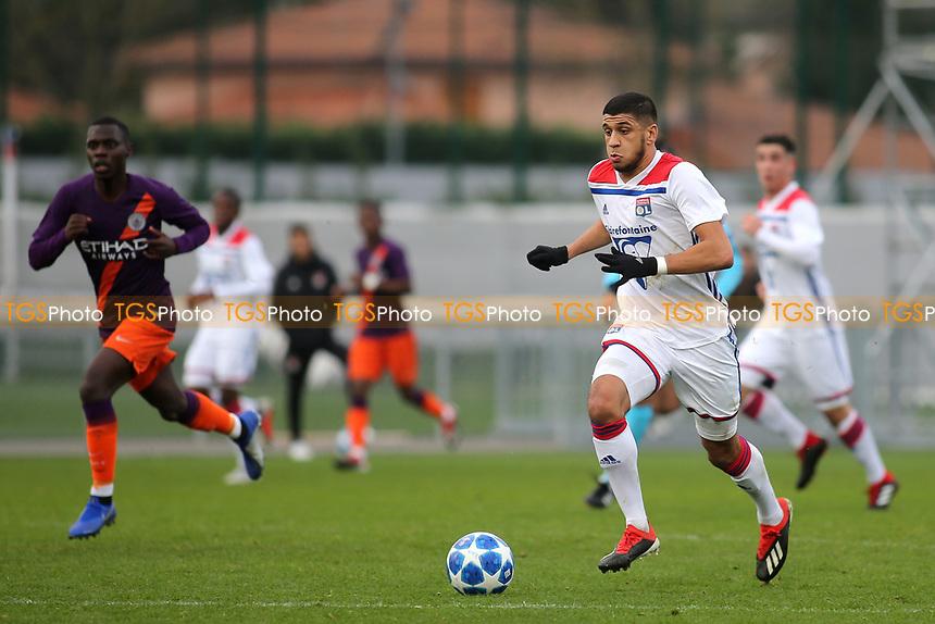 Hamza Rafia of Olympique Lyonnais in action during Lyon Under-19 vs Manchester City Under-19, UEFA Youth League Football at Groupama OL Academy on 27th November 2018