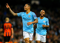 Manchester City's Gabriel Jesus celebrates scoring his side's sixth goal<br /> <br /> Photographer Alex Dodd/CameraSport<br /> <br /> UEFA Champions League Group F - Manchester City v Shakhtar Donetsk - Wednesday 7th November 2018 - City of Manchester Stadium - Manchester<br />  <br /> World Copyright © 2018 CameraSport. All rights reserved. 43 Linden Ave. Countesthorpe. Leicester. England. LE8 5PG - Tel: +44 (0) 116 277 4147 - admin@camerasport.com - www.camerasport.com
