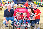 The Brosnan family Currow at the South Kerry Ploughing Championships in Fossa on Sunday l-r: Pat, Kevin, Aaron, Patricia and Ruairi Brosnan
