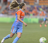 Andressa Machry (17) of the Houston Dash looks to pass the ball in the second half against the Chicago Red Stars on Saturday, April 16, 2016 at BBVA Compass Stadium in Houston Texas.