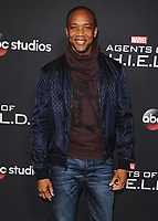 "HOLLYWOOD - FEBRUARY 24:  J. August Richards at 100th Episode Celebration of ABC's ""Marvel's Agents of S.H.I.E.L.D.""  at OHM Nightclub on February 24, 2018 in Hollywood, California.(Photo by Scott Kirkland/PictureGroup)"
