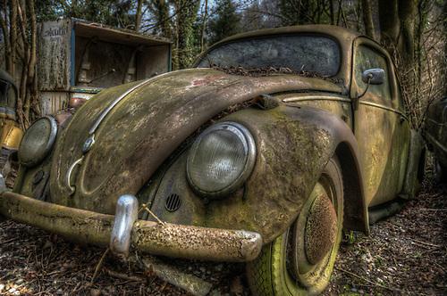 Old car graveyard <br /> VW Beatle