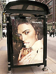 Keira Knightley in a new promotional poster campaign for Chanel's Coco Mademoiselle fragrance in Chicago on 11/4/2012.