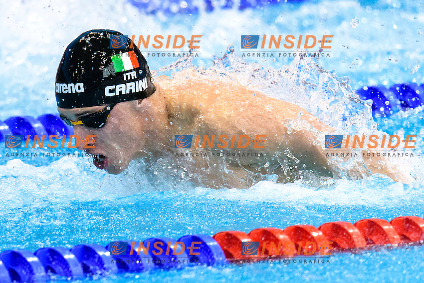 Giacomo CARINI ITA<br /> 50m Butterfly Men Preliminary   <br /> London, Queen Elizabeth II Olympic Park Pool <br /> LEN 2016 European Aquatics Elite Championships <br /> Diving  <br /> Day 08 16-05-2016<br /> Photo Andrea Staccioli/Deepbluemedia/Insidefoto