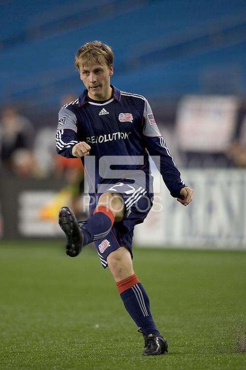 New England Revolution defender Seth Sinovic (27). The New England Revolution defeated Toronto FC, 4-1, at Gillette Stadium on April 10, 2010.