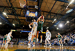 SIOUX FALLS, SD - NOVEMBER 29: Paiton Burckhard #33 from South Dakota State tries to block the shot of Carly Mohns #34 from Wisconsin Green Bay during their game Thursday night at Frost Arena in Brookings. (Photo by Dave Eggen/Inertia)