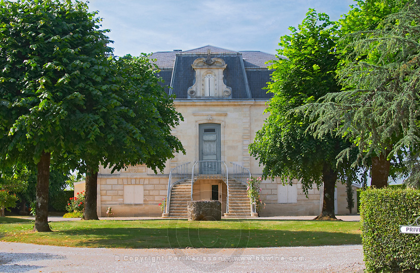 The small but very well proportioned main chateau building Chateau Thieuley La Sauve Majeure Entre-deux-Mers Bordeaux Gironde Aquitaine France
